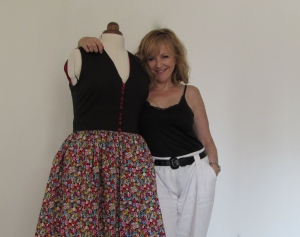 Vestido de algodón multicolor