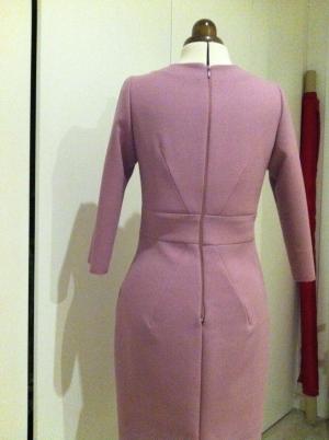 Vestido lana rosa