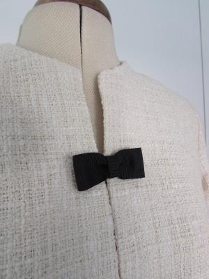 Conjunto palazzo, top y chaqueta Chanel