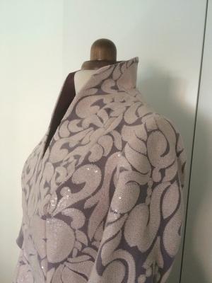 Conjunto casaca de paillete con pantalón pitillo de mikado